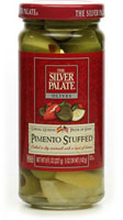 Pimento Stuffed Olives in Vermouth with Lemon Peel [sil-13311.jpg]