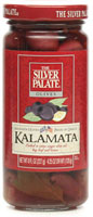 Pitted Kalamata Olives in Olive Oil with Bay Leaf and Lemon Peel [sil-13316.jpg]